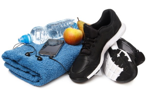 Items for fitness workout